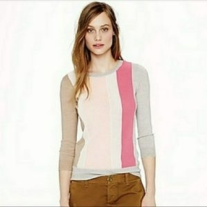 J. CREW | Panel Merino Wool Texture Sweater Sz. M